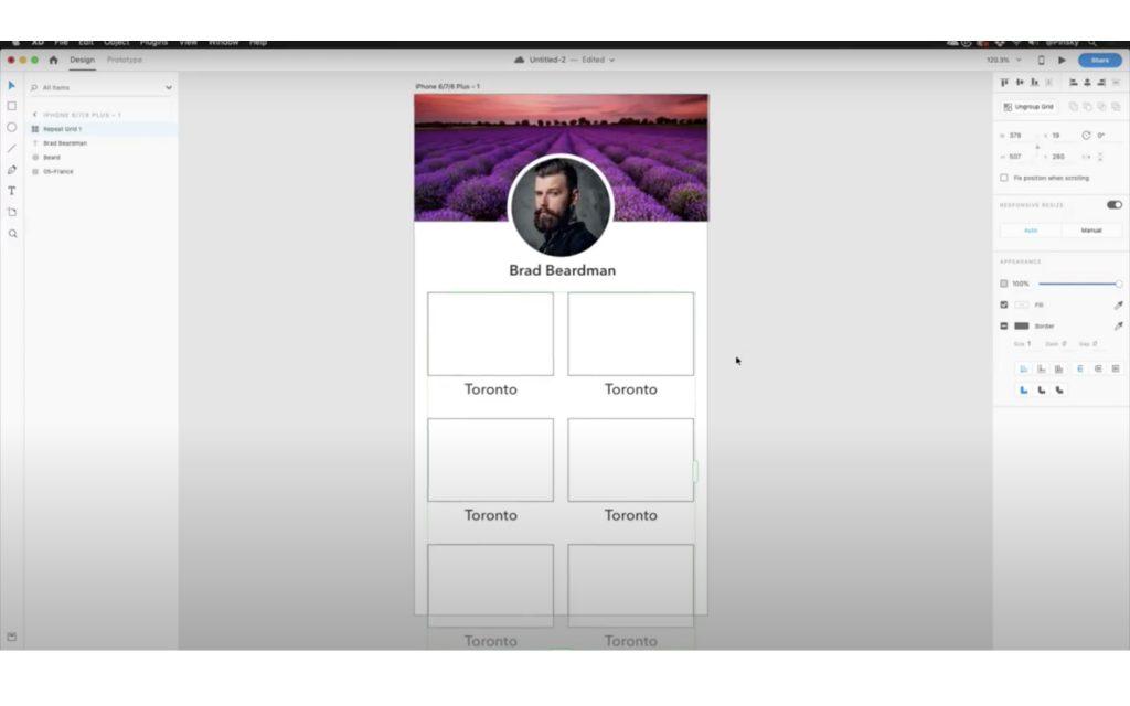 Adobe XDワイヤーフレーム,デザインカンプ